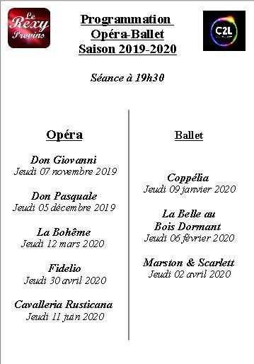 OPERA / BALLET Programmes 10 / 10